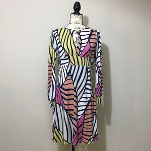 Magenta brand bold & colorful knit dress.